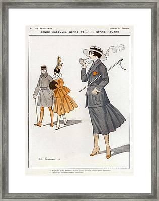 La Vie Parisienne  1916 1910s France Cc Framed Print