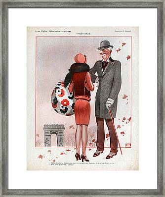 La Vie Parisienne  1928 1920s France Cc Framed Print by The Advertising Archives