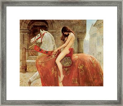 Lady Godiva Framed Print by John Collier