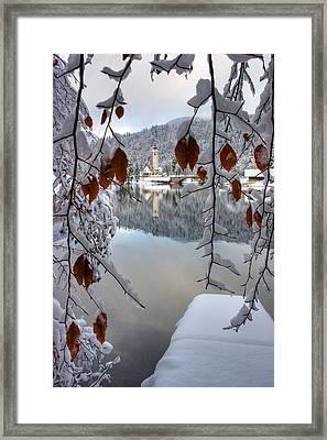 Lake Bohinj In Winter Framed Print