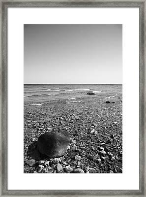 Lake Huron Framed Print by Frank Romeo