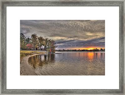 4 Lake Lenape W Sunrise6 Framed Print