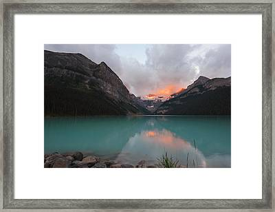 Lake Louise Sunrise Framed Print by Yue Wang