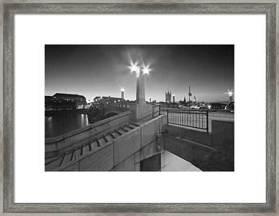 Lambeth Bridge Thames London Framed Print