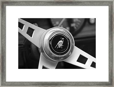 Lamborghini Steering Wheel Emblem Framed Print