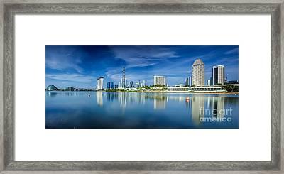 Landscape Of Singapore City  Framed Print