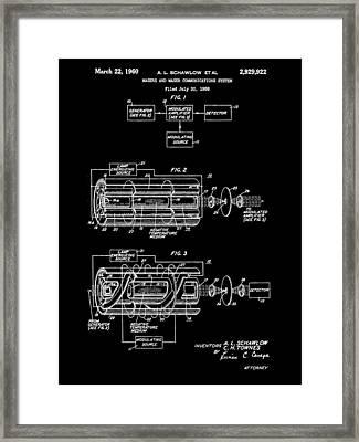 Laser Patent 1958 - Black Framed Print by Stephen Younts