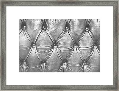 Leather Upholstery Framed Print by Tom Gowanlock