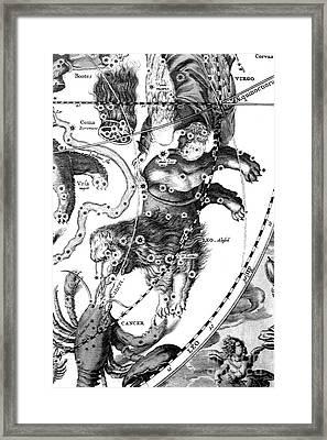 Leo Constellation, Zodiac Sign Framed Print
