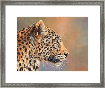Leopard Framed Print by David Stribbling