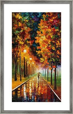 Light Of Autumn Framed Print