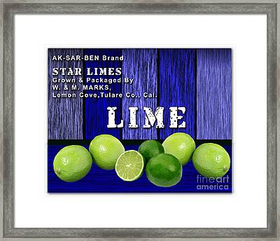 Lime Farm Framed Print