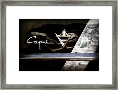 Lincoln Capri Emblem Framed Print