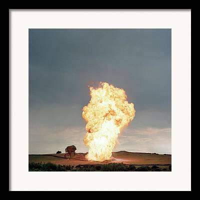 Petroleum Gas Explosion Framed Prints