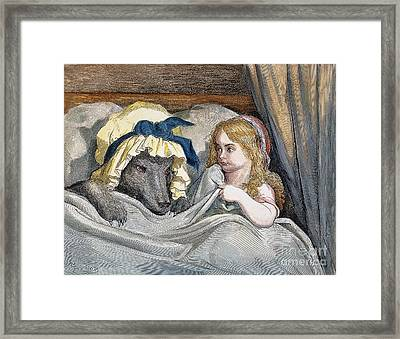 Little Red Riding Hood Framed Print by Granger