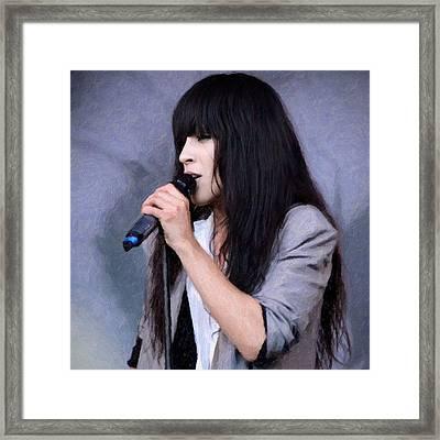 Loreen Framed Print by Tommytechno Sweden