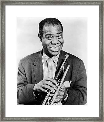 Louis Armstrong (1900-1971) Framed Print by Granger