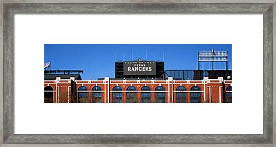 Low Angle View Of A Baseball Stadium Framed Print by Panoramic Images