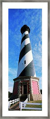 Low Angle View Of A Lighthouse, Cape Framed Print
