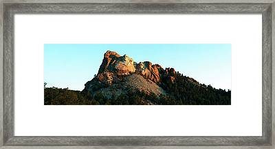 Low Angle View Of A Monument, Mt Framed Print