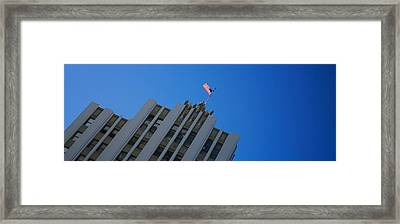 Low Angle View Of An Office Building Framed Print