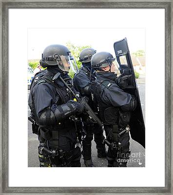 Loyalist Protesters Attack Police Lines Framed Print