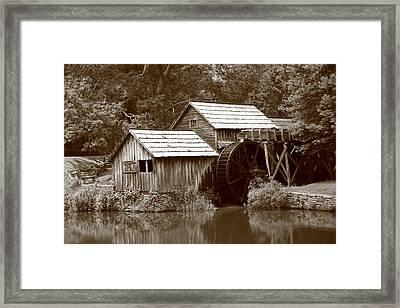 Mabry Mill - Blue Ridge Mountains Framed Print by Frank Romeo