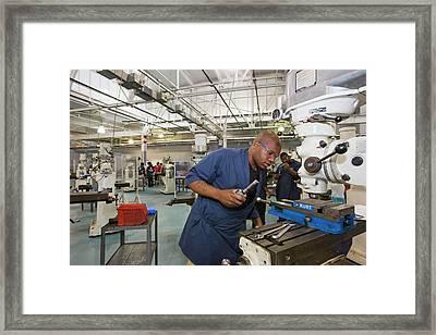 Machinist Job Training Framed Print by Jim West