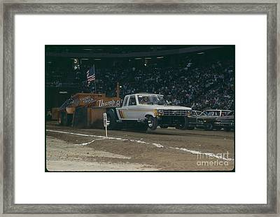 Madison Square Garden Monster Truck Show Framed Print by Antonio Martinho