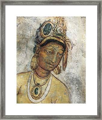 Maidens Among Clouds. 5th C. Sri Lanka Framed Print