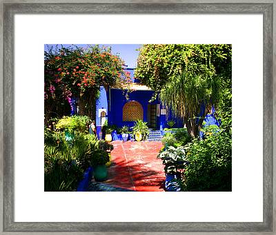 Majorelle Garden Marrakesh Morocco Framed Print by PIXELS  XPOSED Ralph A Ledergerber Photography