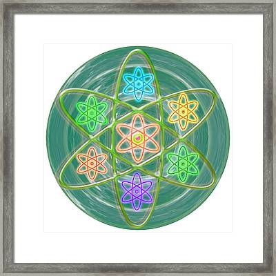 Mandala Is An Object It Is Your Spirit To Meditate And Be In Touch With Cosmic Forces That Matters Framed Print by Navin Joshi