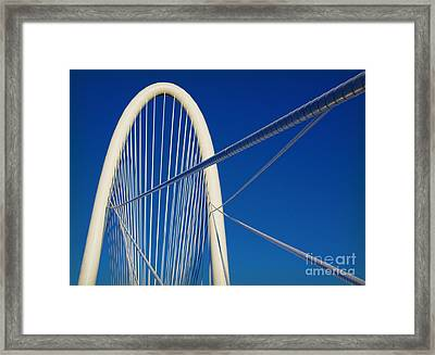 Margaret Hunt Hill Bridge Framed Print by Elena Nosyreva