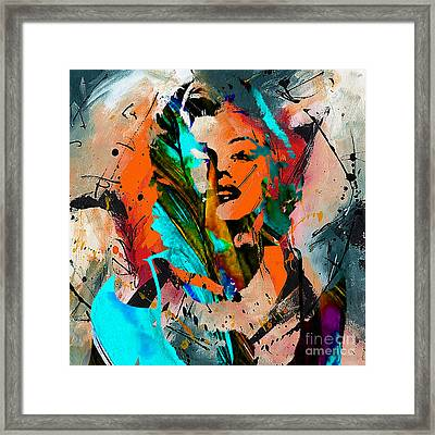 Marilyn Monroe Painting Framed Print