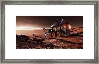 Mars Exploration Framed Print