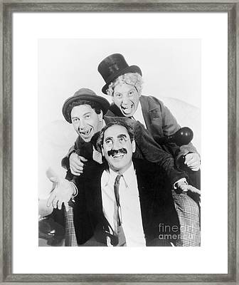 Marx Brothers - Groucho Harpo And Chico Marx Framed Print by MMG Archive Prints