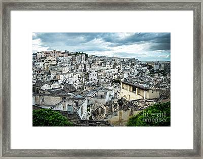 Maters City Of Stones Framed Print by Sabino Parente