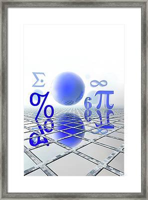 Mathematics Framed Print by Carol & Mike Werner