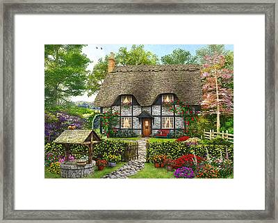 Meadow Cottage Framed Print by Dominic Davison