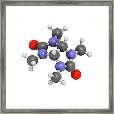 Mebicar Anxiolytic Drug Molecule Framed Print by Molekuul