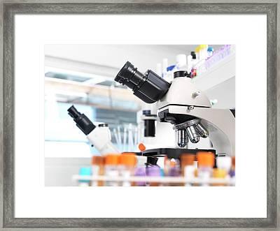 Medical Tests Framed Print