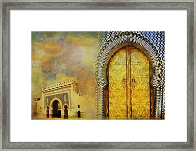 Medina Of Faz Framed Print by Catf