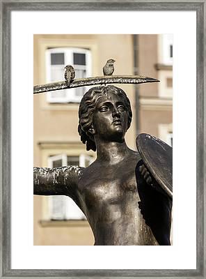 Mermaid Statue In Warsaw. Framed Print by Fernando Barozza