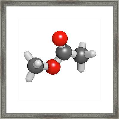 Methyl Acetate Solvent Molecule Framed Print by Molekuul