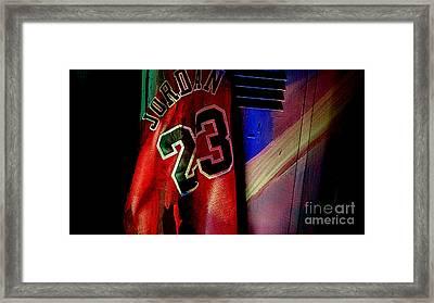 Michael Jordon Framed Print by Marvin Blaine