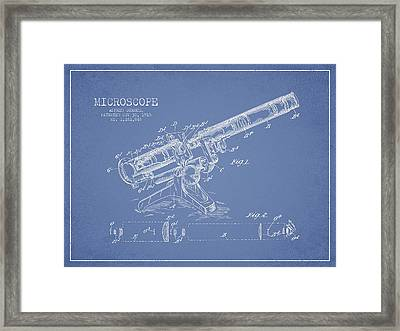 Microscope Patent Drawing From 1915 Framed Print by Aged Pixel