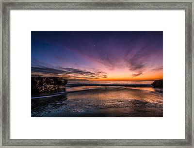 4 Mile Beach Sunset Framed Print