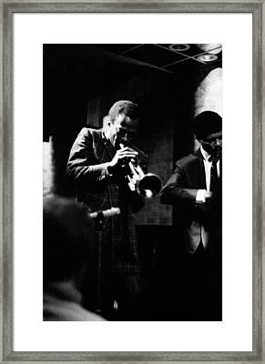 Miles Davis At The Penthouse Framed Print
