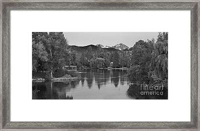 Mirror Pond Framed Print by Twenty Two North Photography