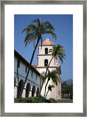 Old Mission Santa Barbara Framed Print by Christiane Schulze Art And Photography